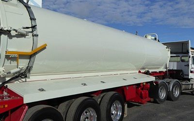 LOCALLY DESIGNED TIPPING VACUUM TRAILER